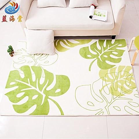 Minimalista moderno japonés la espesa alfombra de los dormitorios salón mesa de café alfombras patrón coral tienda de alfombras de plátano verde ,1.3 Full 1,9×M , café plátano