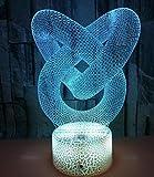 Veilleuse De Conception Abstraite 3D, Lumière Stéréo Tridimensionnelle Tactile Multi-Couleurs, Lumière D'Atmosphère De Fond Dégradé À Led