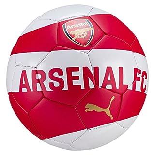 Puma Unisex Arsenal Fan Ball, Chili Pepper-White-Bistre, Size 5