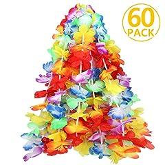 Idea Regalo - Ghirlanda Hawaiana, ivencase 60 pezzo Bracciale Accessorio per Natale Party festa Carnevale Festival per la Cerimonia Nuziale di Compleanno Decorazione del Partito - Christmas