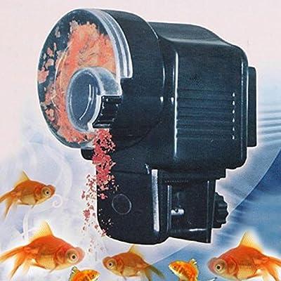 Muamaly Automatische Futterautomat für Fische Aquarium, Automatisierte Zeitschaltuhr Futterspender Fischfütterung SmartFeed