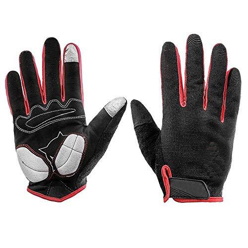 Übung Outdoor-Handschuhe Der Touchscreen-Fahrradhandschuh Langlauf-Motorradhandschuhe Der Blitz mit Langen Handschuhen Ideal für das Fahren Fahren Radfahren Motorrad Camping usw. (Größe : M)