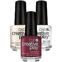 CND Creative Play Currantly Single Nr. 416 13,5 ml mit Creative Play Base Coat 13,5 ml und Top Coat 13,5 ml, 1er Pack (1 x 0.041 l)
