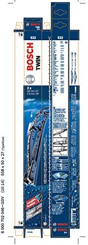 Bosch 3397118405 Wischblatt Satz Twin 533 - Länge: 530/475