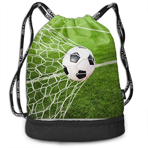 Juziwen Gym Drawstring Sports Bag Simple Quick Dry Bundle Backpack Soccer Ball Hitting Goa - Big-ball-sport Bean Bag
