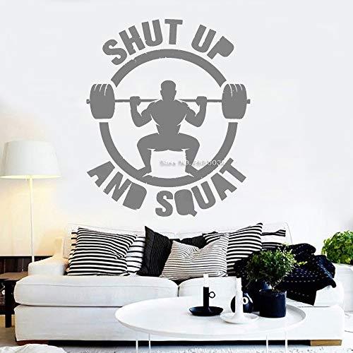 Neue Fitness Wandtattoo Gym Wort Zitat Aufkleber Inspirational Herren Schlafzimmer Gym 42cm x 51cm (Herren-toaster)