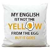 Wandtattoo-Loft ® Bedrucktes Kissen Ei mit Schrift