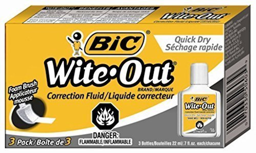 3-x-bic-wite-out-quick-dry-correction-fluid-3-pack-bicwofqd324-by-wite-out