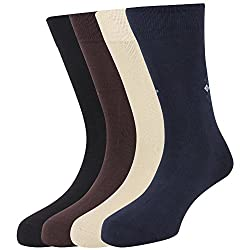Hush Puppies Mens Calf Length Soft Combed Cotton Pack of 4 Pair Socks