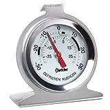 Profi Kühlschrankthermometer - Edelstahlgehäuse - Gefrierschrankthermometer