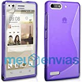 Funda carcasa para ORANGE GOVA / HUAWEI ASCEND G6 GEL TPU Diseño S-Line Color MORADO