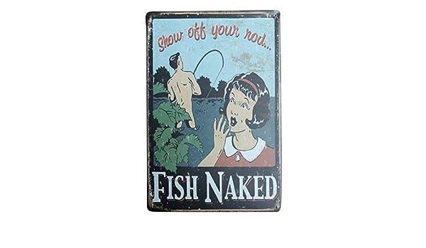 Kentop Plaque Poster Mural Peinture de Fer Vintage Plaque en m/étal Mural Signe Affiche Motif de Humour de p/êche Plaque Cafe Home Bar Cuisine Sticker Mural de d/écoration