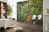 Komar 8-989 Fototapete aus Papier Jungle Trail, Größe: 368 x 254 cm (Breite x Höhe), 8 Teile, Inklusive Kleister, Made in Germany, Bunt, 368 x 248 cm