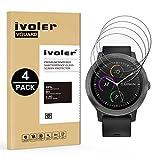 iVoler [4 Unidades] Protector de Pantalla para Garmin Vivoactive 3 Smartwatch, Cristal Vidrio Templado Premium