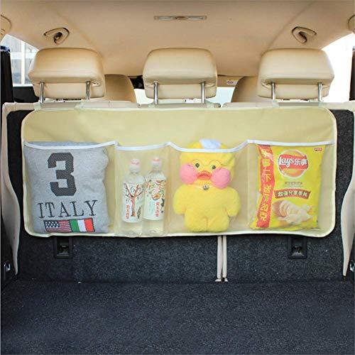 FAMLYJK Auto Trunk Organizer Rücksitz Auto Organizer Rücksitz Lagerung Verstellbare Riemen Für Die Meisten Fahrzeuge,C