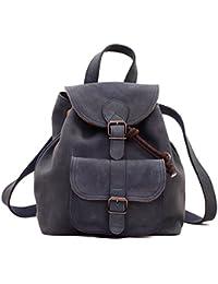 LE BAROUDEUR Bleu Pétrole petit sac à dos en cuir couleur style vintage PAUL MARIUS