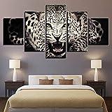 adgkitb canvas Poster 5 stücke malerei wild Animal White Tiger leinwand Home dekorative Rahmen...
