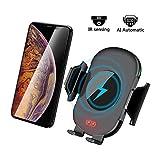 KFZ Ladegerät Qi Wireless car charger Auto Induktions ladegerät Halterung Vent Phone Holder für iPhone XS/XR/X Samsung und Qi Fähige Geräte