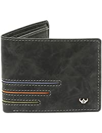 DHide Designs Casual Wallet For Men - Multi-Compartment Genuine Leather Wallet For Men - 13 Slots - Black