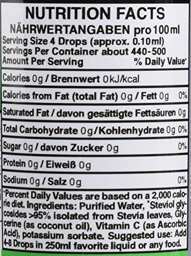 ALPHAPOWER FOOD Original Stevia Zucker Drops, Vegan & GMO-frei, flüssiger Zuckerfreier Zuckerersatz ohne Kalorien, Liquid Süßstoff zum Tropfen ohne Geschmack 1x50ml zum Backen & Flüssigkeiten