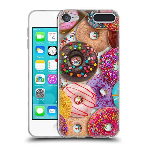 Head Case Designs Offizielle Aimee Stewart Donut Leckereien Farbige Bonbons Soft Gel Hülle für Apple iPod Touch 6G 6th Gen - Apple Mp3-player Touch Ipod 64gb