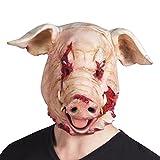Schweinemaske Horror Schwein blutiges Schwein Halloweenmaske