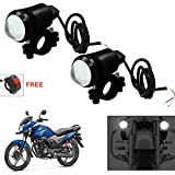 #5: AutoStark U1 LED Motorycle Fog Light Bike Projector Auxillary Spot Beam Light (Black, 2Pc) For Honda CB Shine SP 125