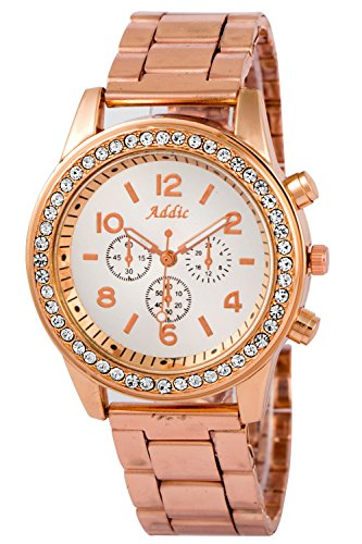 Addic Exquisite Dial Crystal Studded 1 (wristwatch for Women)