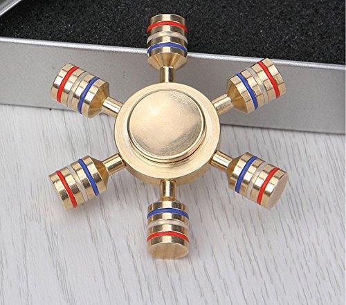 Farfalla d'oro @ alta qualità durable stress reliever riduttore di ansia colorato dazzling puro copper finger gyroscope fingertip rotazione a spirale 4 minuti