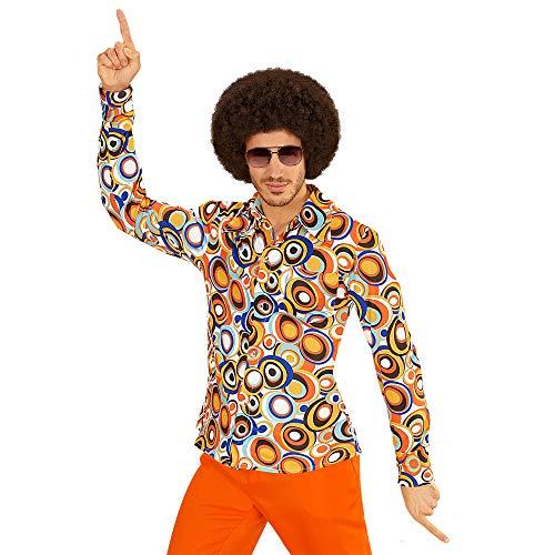 Widmann 09091 70er Jahre Hemd bubbles, - Disco Ball Kostüm