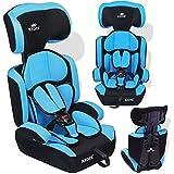 Kidiz® Autokindersitz Kinderautositz ✓ Gruppe 1+2+3 ✓ 9-36 kg ✓ Autositz ✓ Kindersitz | Stabil und Sicher | Farbe: Hellblau