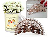 Best Gift for Valentine, Valentine Gifts for Her, Valentine Gifts for Her Peacock Shaped Hair Clip and Valentine's Special Coffee Mug with Bunches of  best price on Amazon @ Rs. 699