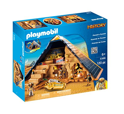 Playmobil 5386 Egyptian Pharaoh's Pyramid with Many Hidden Tombs and Traps