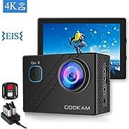 GOOKAM Action Cam 4K 20MP WiFi EIS Fotocamera Subacquea 40M Impermeabile Videocamera 170 Gradi Grandangolare c