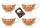 4 latte caffè tazze Set con Geisha decorazione - Jameson & Tailor 4454 + campione tè
