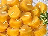 Figura Santa 413 - Candele fatte di cera d'api, Giallo, Confezione da20pezzi