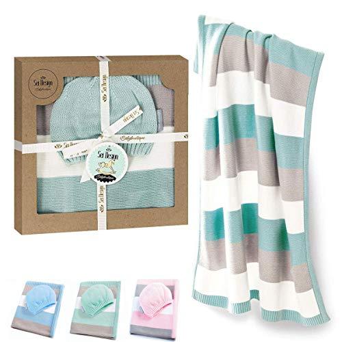 Made in Europe 80x100cm Ecru 100/% Merino Wolle Decke von gestrickt NordSnow antiallergische und sehr weich