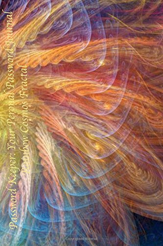 Password Keeper: Your Personal Password Journal Rainbow Cosmos Fractal