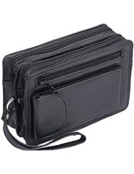Bolso de mano de hombre LOUANA, de cuero, 21x13x6cm