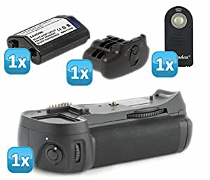 Meike poignée d'alimentation professionnelle pour nikon d300/d300s/d700 remplaçant le modèle nikon mB-d10 eN -eL4 batterie 1 x cache-batterie de remplacement bL3 semblable à nikon 1 x télécommande infrarouge