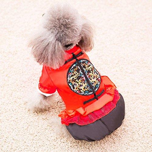 stüm Herbst und Winter Haustier Tang Anzug Teddy Vierbeinige Kleidung Bichon Kleine Hunde Warme verdickte Winterkleidung, 004, xs (Bichons Kostüm)