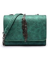 Metal Leaf Shoulder Bag Handbags For Women Stylish Chain Bag Crossbody Bag Phone Purse Small Messenger Bag Travel...