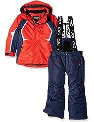 CMP 3W07064, Traje de Esquiar Para Niños, Rojo (Ferrari), 164