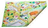 Doppelseitige Spielfläche 150 x 100 x 0.5 cm mit City und Hof Designs