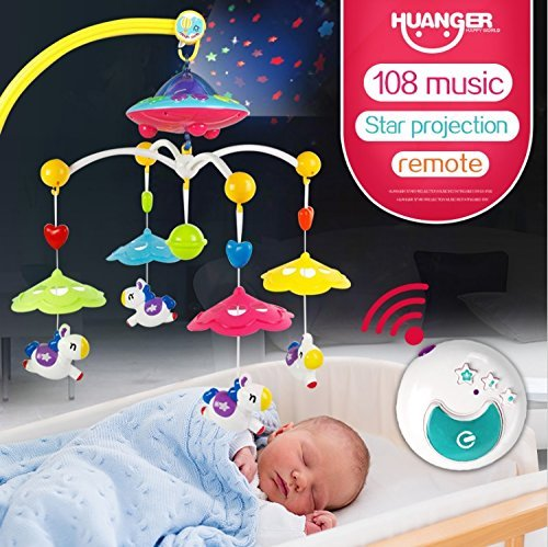 Magicwand Remote Controlled Baby Bed Musical Cot Rotating Projection Toy