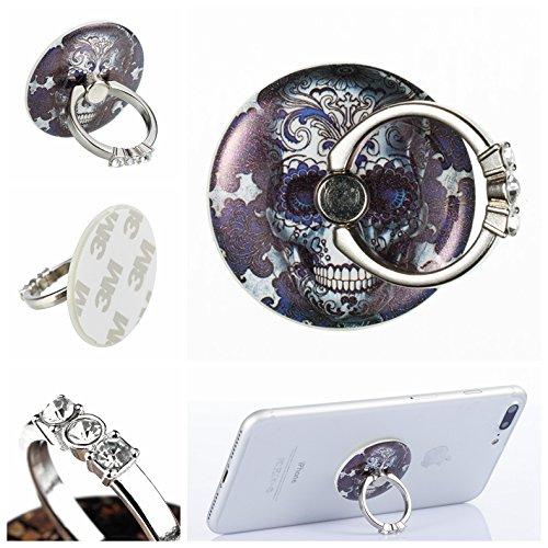 Preisvergleich Produktbild Handyhalterung Handy Ring, Alfort 360° Kristall Griff Halterung Ständer Handy Ring für iPhone, Samsung, Sony, Huawei und Alle anderen Telefone, Tabletten ( Geister )