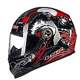 Best Nuova moto Caschi - Qianliuk Uomo Donna Full Face Casco Moto Originale Review