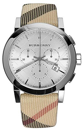 Burberry BU9357  Mens City Leather Strap Nova Check Watch Classic Check