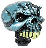 Carparts-Online 20253 Sport Schaltknauf Totenkopf Skull blau glänzend