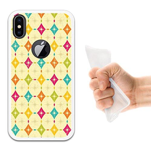 iPhone X Hülle, WoowCase Handyhülle Silikon für [ iPhone X ] Regenbogen Eule Handytasche Handy Cover Case Schutzhülle Flexible TPU - Transparent Housse Gel iPhone X Transparent D0132